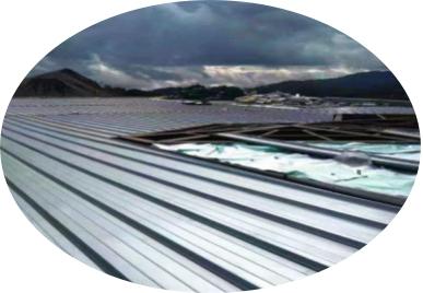 Practical use of aluminium corrugated plate