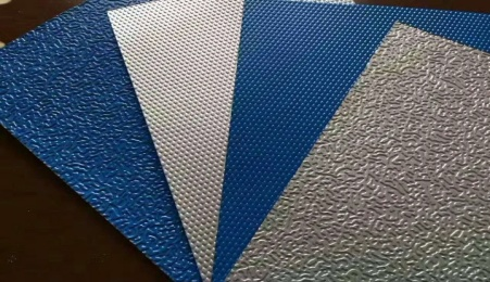 Practical application of stucco/embossed aluminum coils/sheets